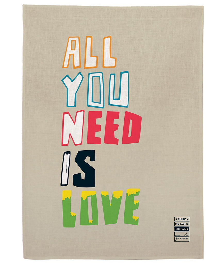 All You Need is Love Tea Towel x Jon Campbell