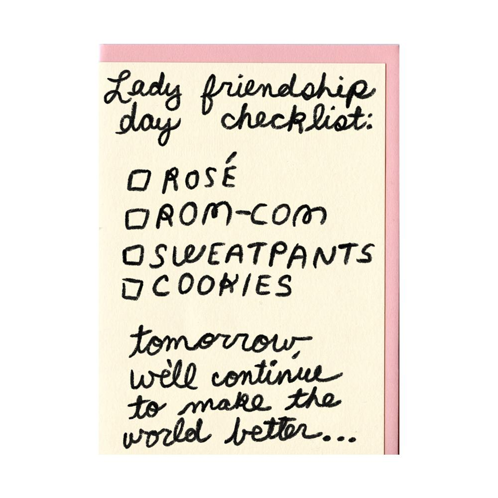 Lady Friendship Day Card Paper People I've Loved