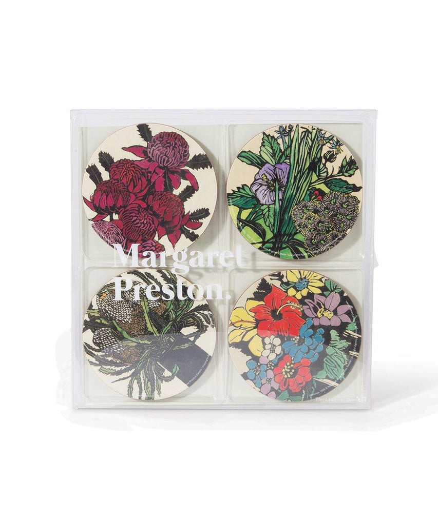 Third Drawer Down X Margaret Preston, Corkboard Coaster Set