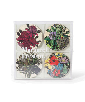 Third Drawer Down X Margaret Preston, Corkboard Coaster Set Wood Third Drawer Down