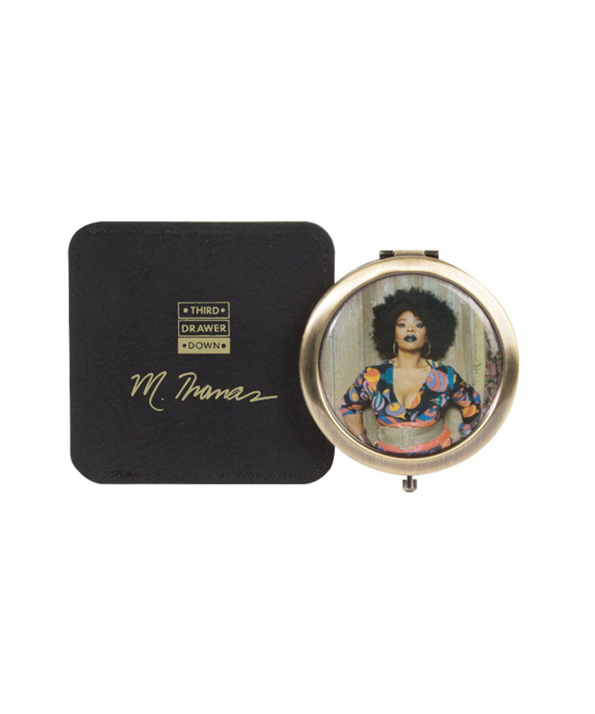 Third Drawer Down X Mickalene Thomas, Brushed Copper Pocket Mirror