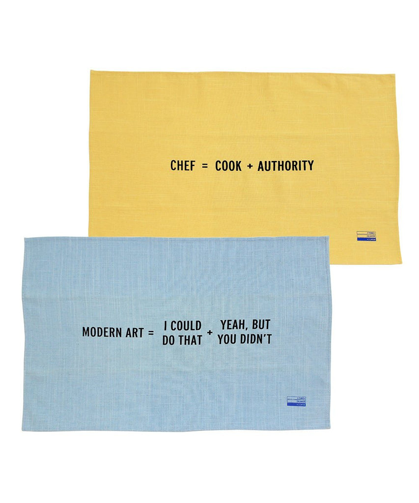 Third Drawer Down X Craig Damrauer, New Math Collection Tea Towels