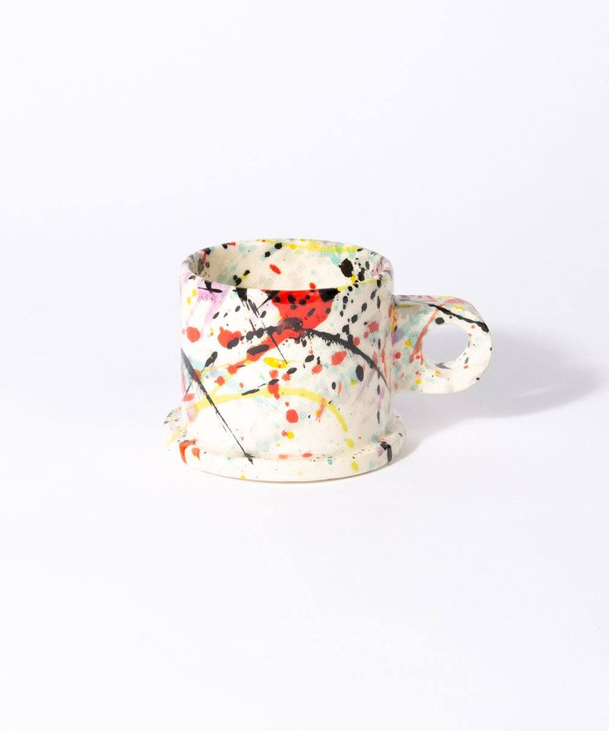 Peter Shire, Splatter Mug Large Short Ceramic Peter Shire