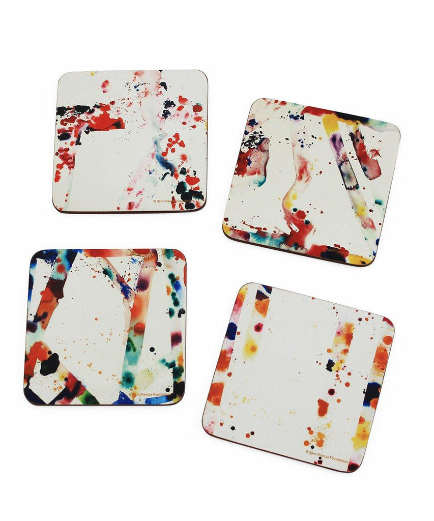 Third Drawer Down X Sam Francis, Corkboard Coaster Set