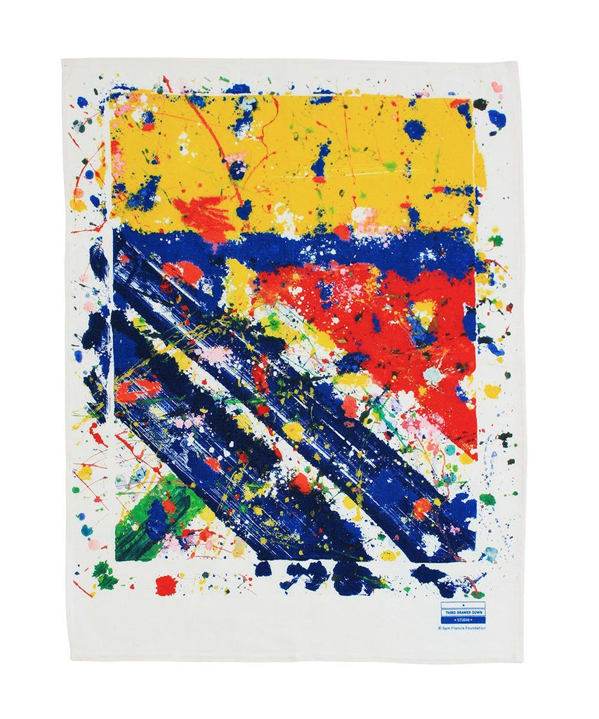 Third Drawer Down X Sam Francis, Slant Tea Towel