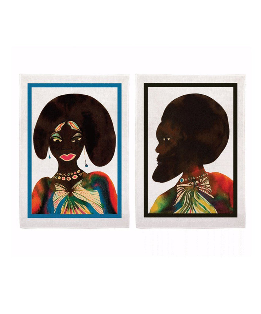 Third Drawer Down X Chris Ofili, Afromuses Couple Tea Towels