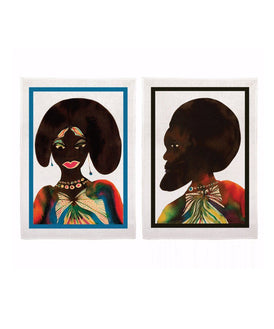 Third Drawer Down X Chris Ofili, Afromuses Couple Tea Towels Textile Third Drawer Down