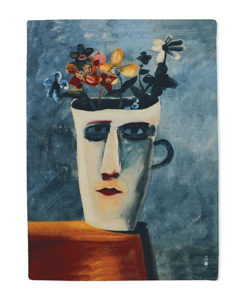Charles Blackman The Alice Cup Linen Tea Towel