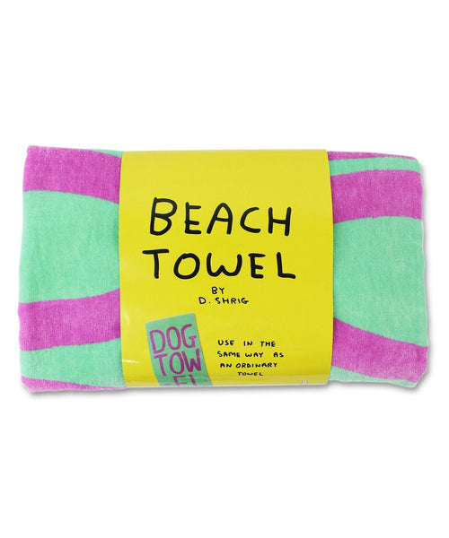 Beach Blanket Experiment: Dog Beach Towel X David Shrigley