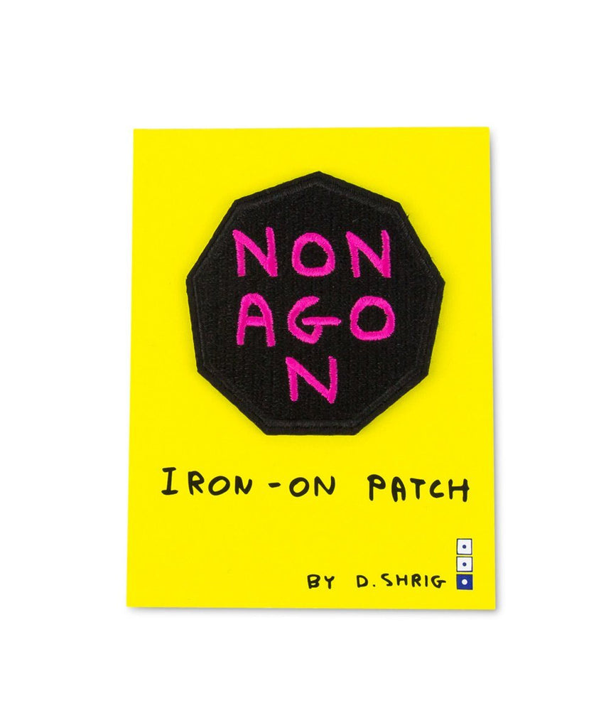 Third Drawer Down X David Shrigley, Nonagon Woven Patch Misc Third Drawer Down