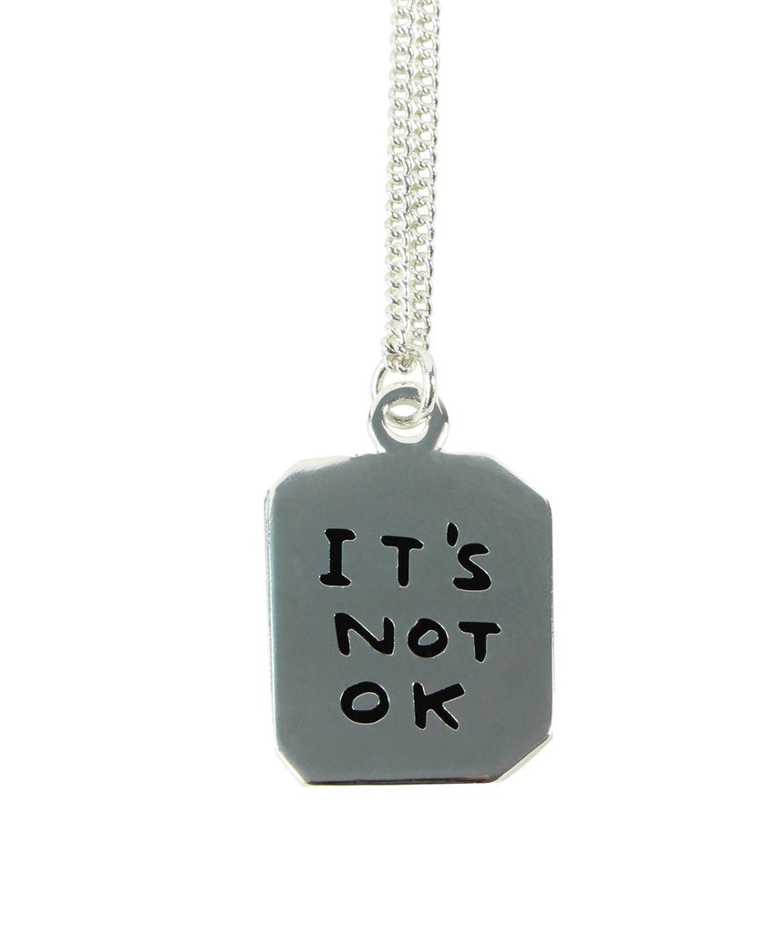 It's Ok/It's Not Ok Necklace x David Shrigley