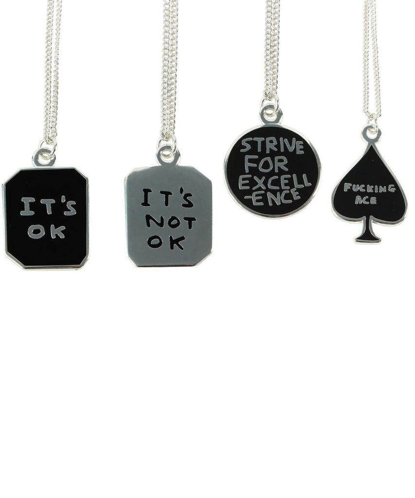 Third Drawer Down X David Shrigley, F**king Ace Necklace accessories Third Drawer Down