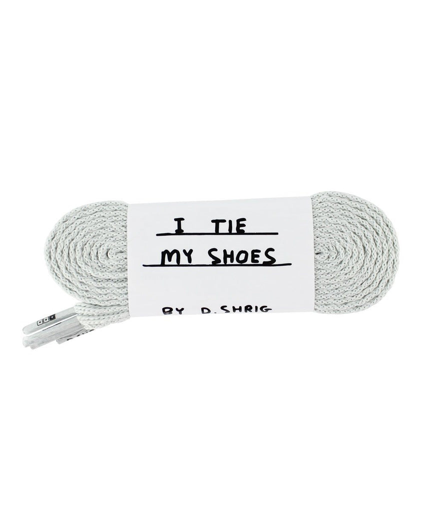 Third Drawer Down X David Shrigley, Found My Shoelaces Textile Third Drawer Down Grey