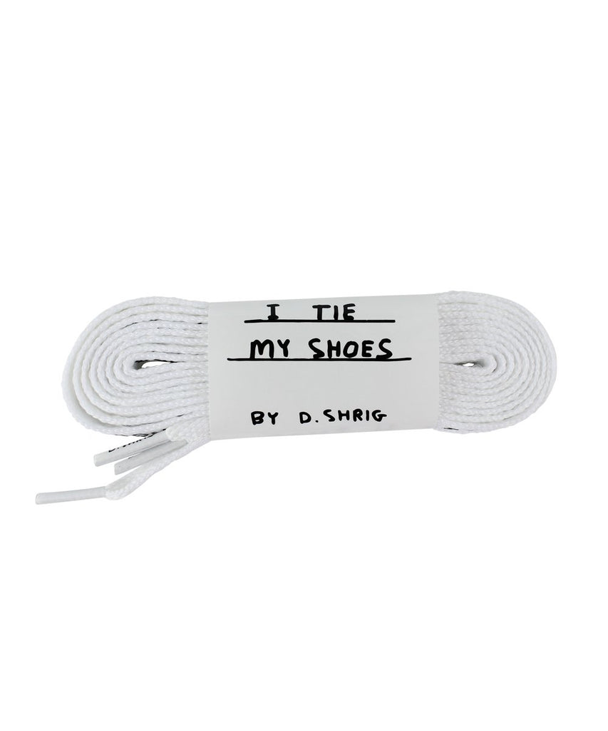 Third Drawer Down X David Shrigley, Found My Shoelaces Textile Third Drawer Down White