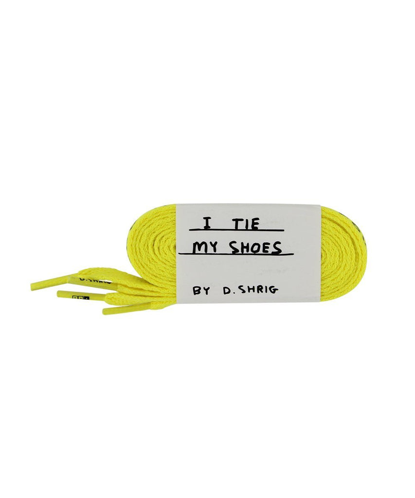 Third Drawer Down X David Shrigley, Found My Shoelaces Textile Third Drawer Down Yellow