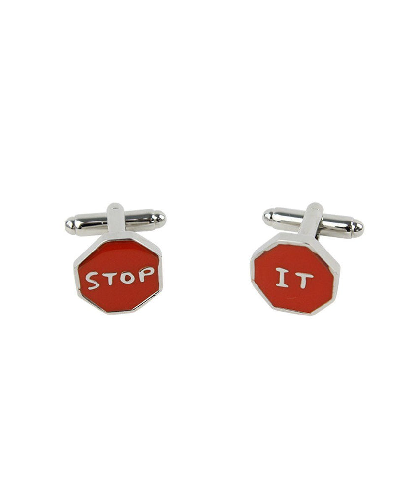 Third Drawer Down X David Shrigley, Stop It Cufflinks General Third Drawer Down