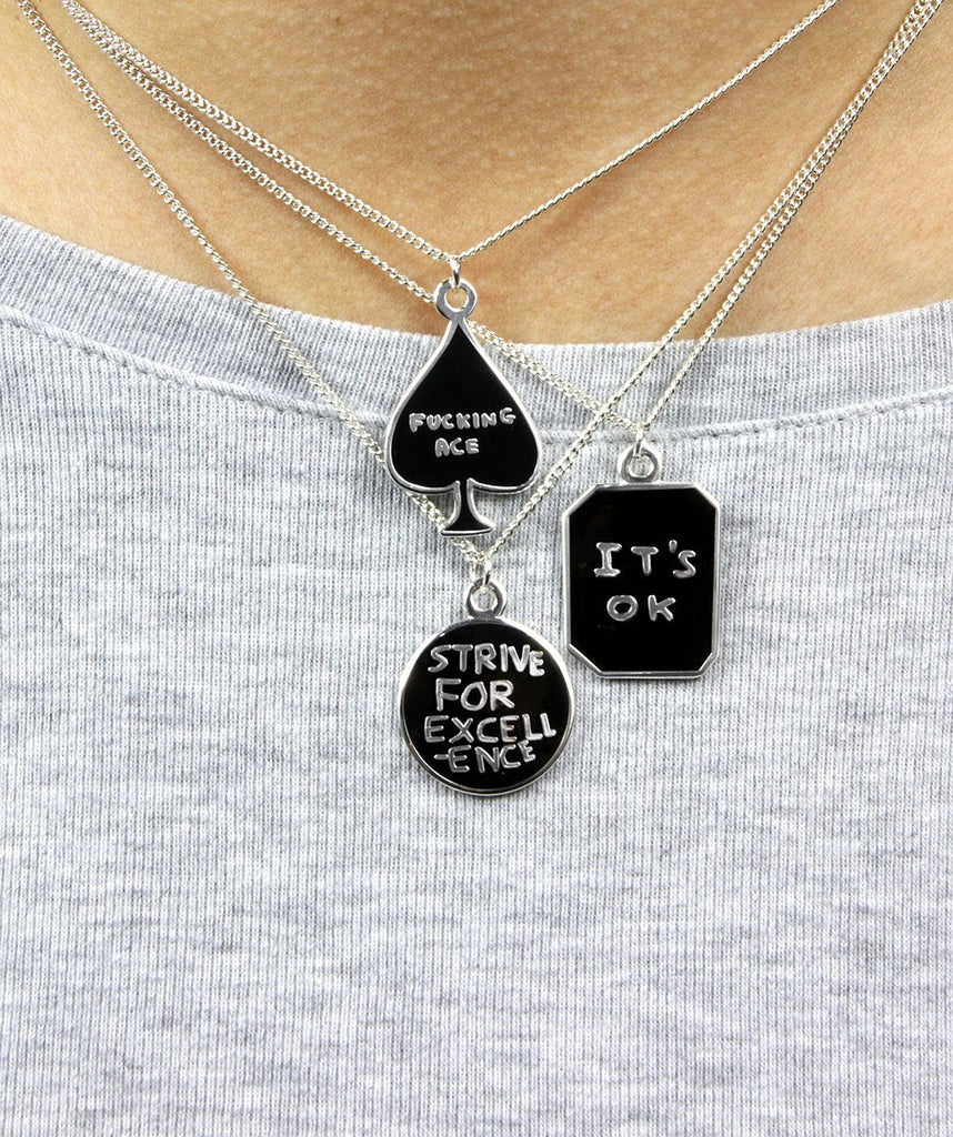 Third Drawer Down X David Shrigley, It's Ok/It's Not Ok Necklace accessories Third Drawer Down
