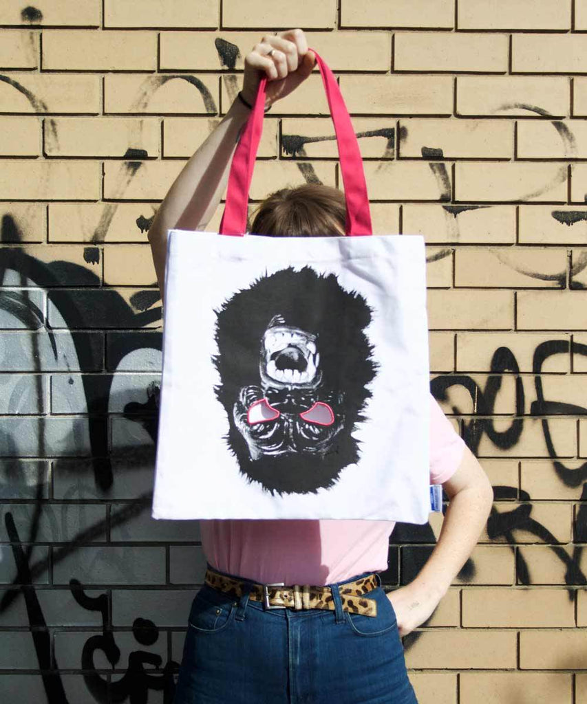 Third Drawer Down X Guerrilla Girls, Gorilla Tote Bag accessories Third Drawer Down