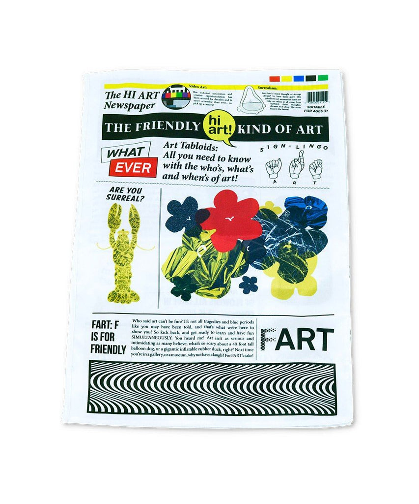 Hi Art Fabric Toy Newspaper x Hi Art