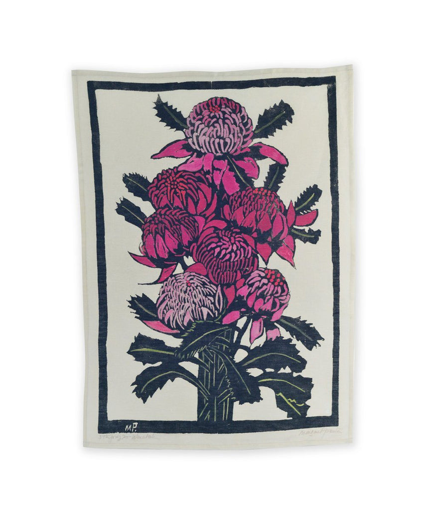 Third Drawer Down X Margaret Preston, Waratahs Tea Towel