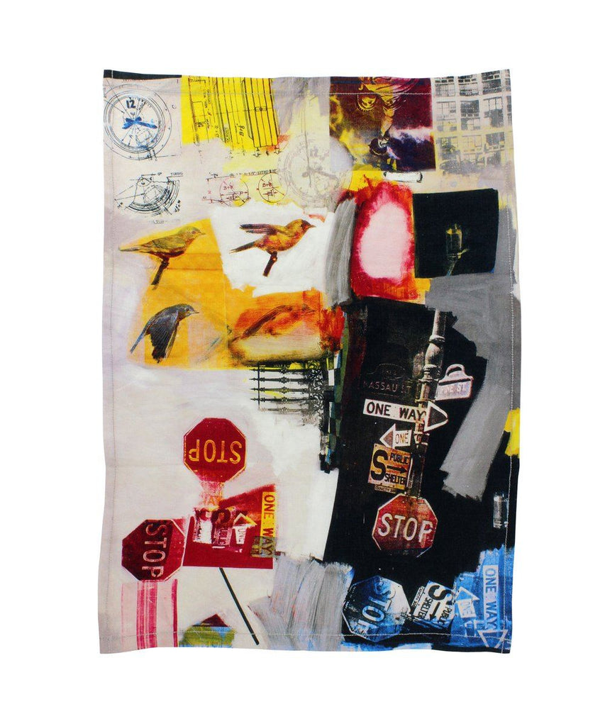 Third Drawer Down X Robert Rauschenberg, Overdrive Tea Towel Textiles Third Drawer Down