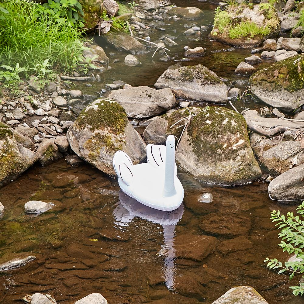 Third Drawer Down X David Shrigley, Ridiculous Inflatable Swan-Thing