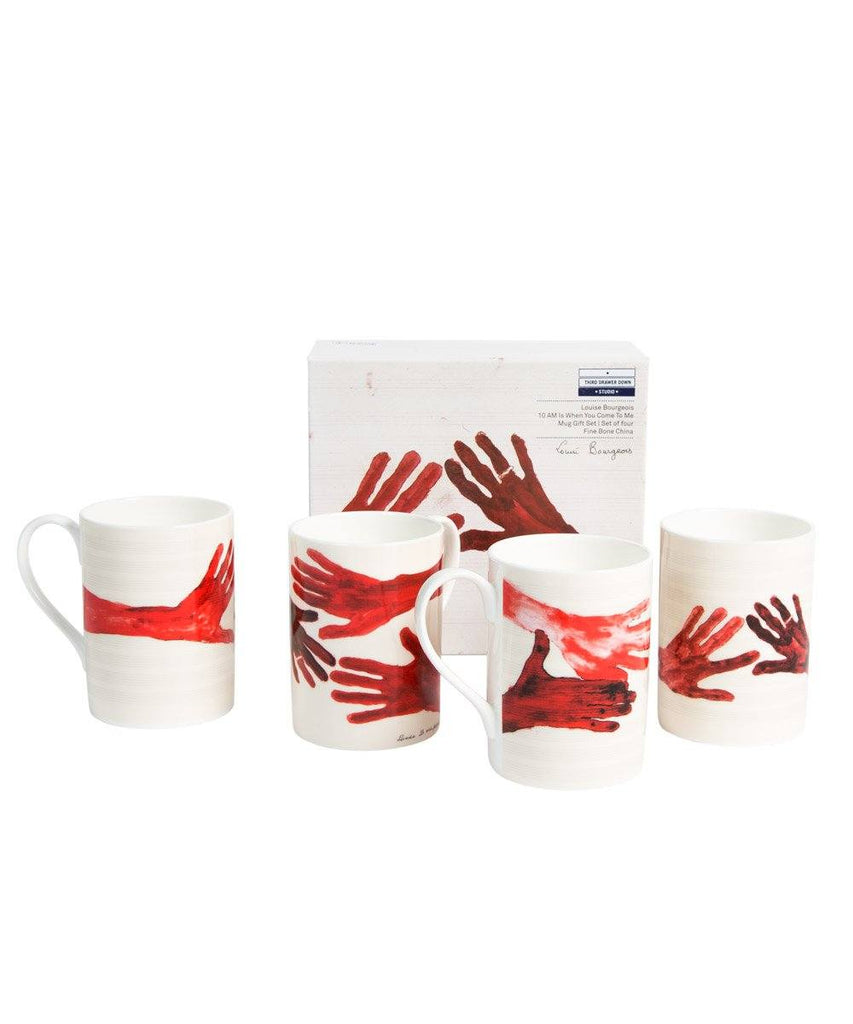 Third Drawer Down X Louise Bourgeois, Bone China Mug Set Ceramic Third Drawer Down