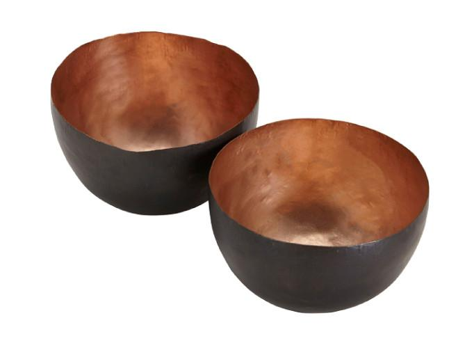 Tom Dixon, Form Bowl Tall Copper Set Metal DEDE Tall Pair