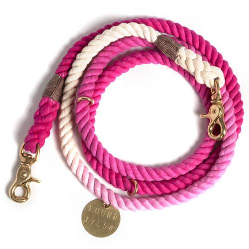 Found My Animal, Dipped Colour Dog Accessories Other Found My Animal Small Leash Magenta