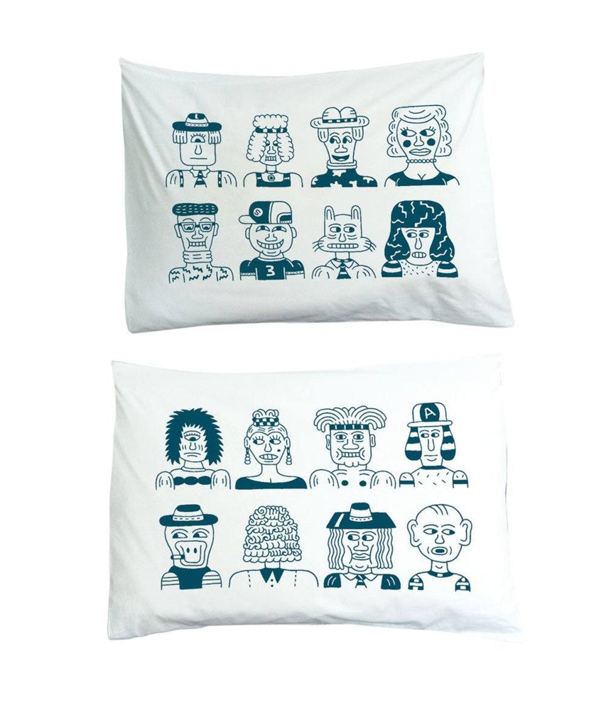 Andy Rementer Bed Buds Pillowcase Set