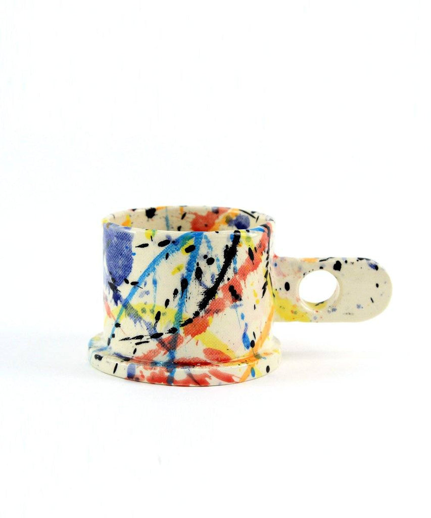 Splatter Mug Large Short X Echo Park Pottery Ceramic Peter Shire