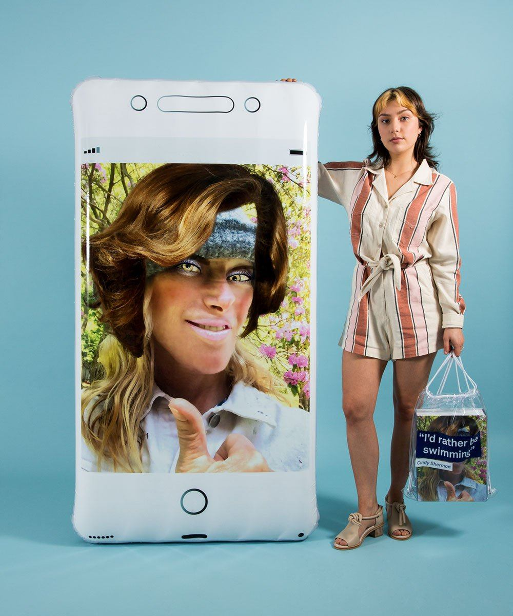 Oops Phone Float Silver x Cindy Sherman