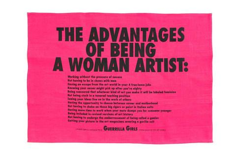 Advantages of Being a Woman Artist Tea Towel X Guerrilla Girls Textiles Third Drawer Down