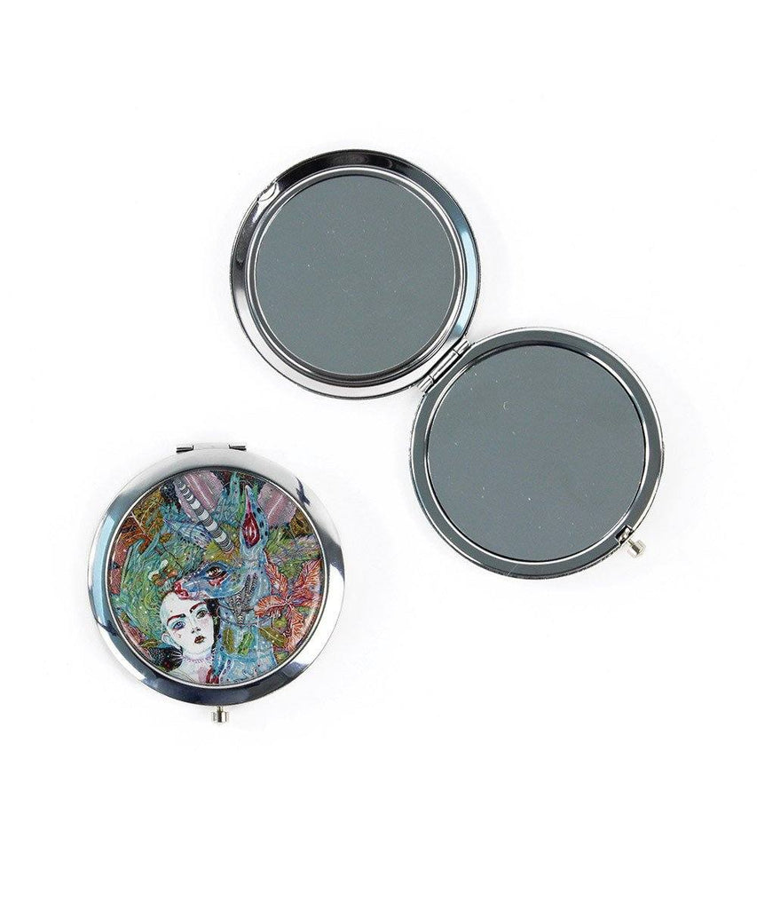 Third Drawer Down X Del Kathryn Barton, Cosmic Crime Purse Mirror