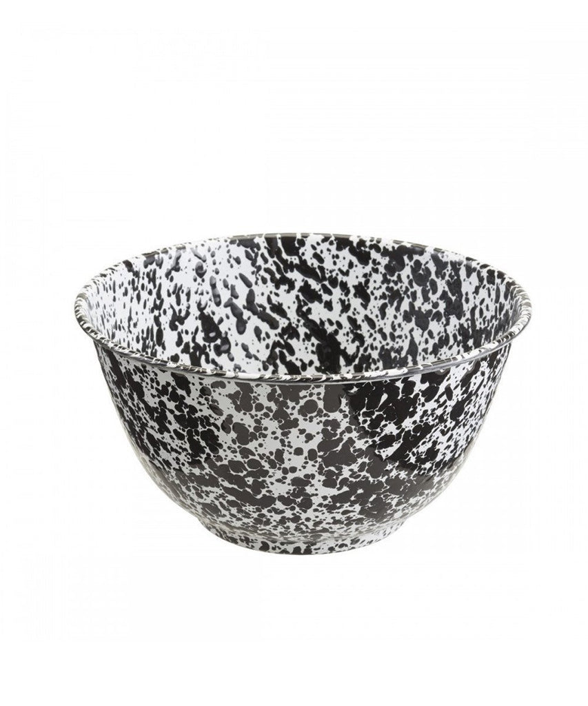 Enamelware Black Salad Bowl