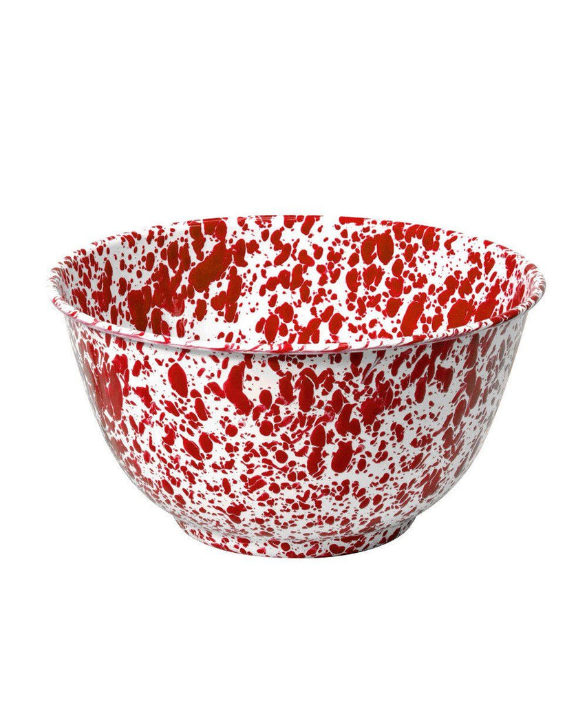 Enamelware Red Salad Bowl