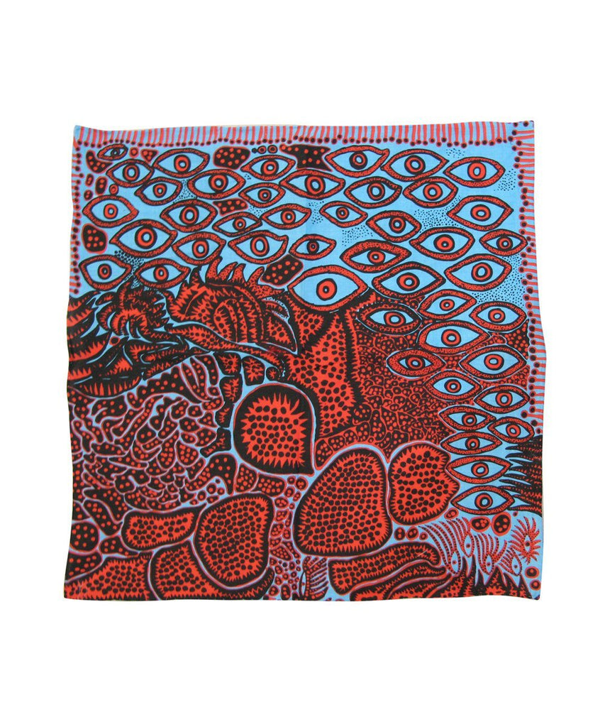 Third Drawer Down X Yayoi Kusama, Eyes of Mine Handkerchief Textiles Third Drawer Down