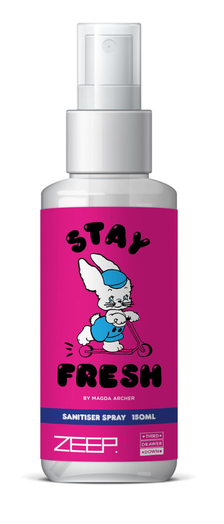 Stay Fresh Sanitiser Spray 150ml x Magda Archer Skincare Third Drawer Down x ZEEP