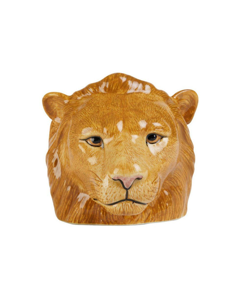 Lion Face Ceramic Egg Cup