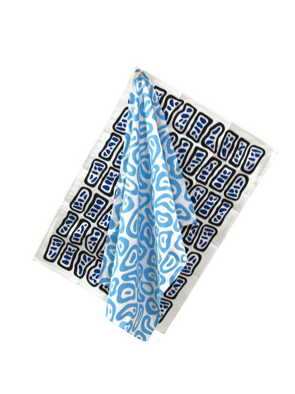 Tea Towel Set Blues X Nathalie Du Pasquier Textile Third Drawer Down