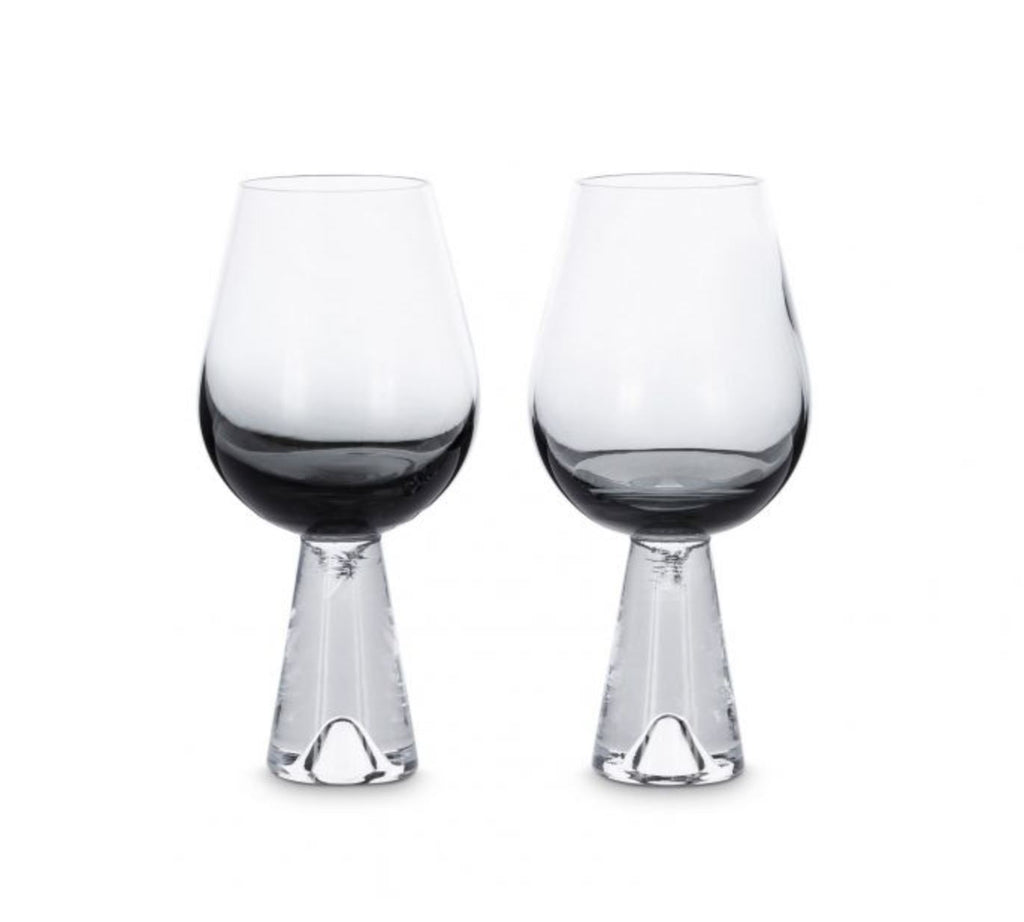 Tom Dixon, Tank Wine Glasses Black Glass Tom Dixon