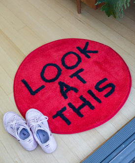Look at This Shaggy Floor Mat x David Shrigley Textile Third Drawer Down
