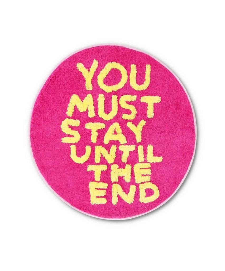 You Must Stay Shaggy Floor Mat x David Shrigley Textile Third Drawer Down