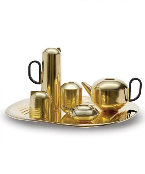 Tom Dixon, Brass Form Tea Set Metal DEDE