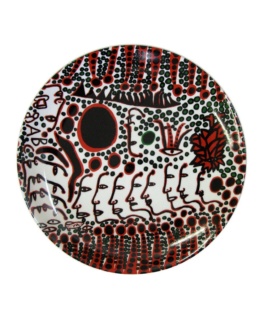 Third Drawer Down X Yayoi Kusama, Women Wait for Love Ceramic Plate