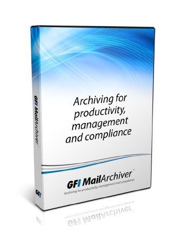 GFI Archiver for 25 Users Including 3 Years Software Maintenance Agreement