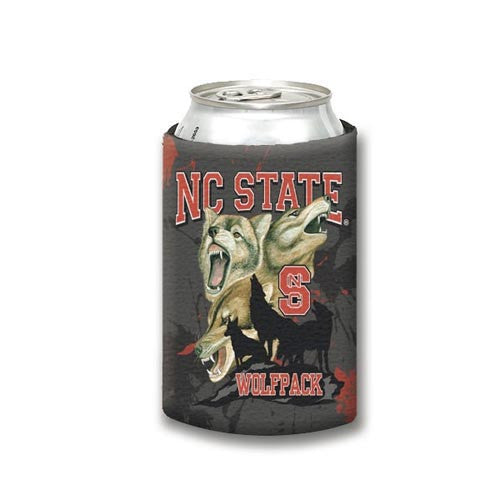 NC State Wolfpack Black Non-Collapsible Guy Harvey Can Cooler