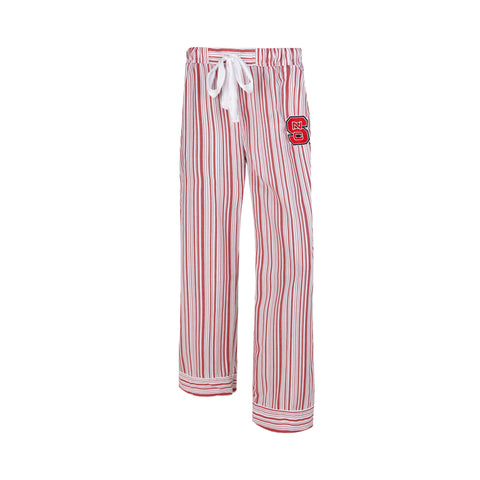 NC State Wolfpack Women's Red and White Principle Woven Pants
