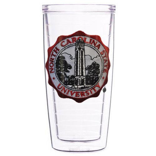 NC State Wolfpack 22oz Clear Seal Tumbler w/ Lid