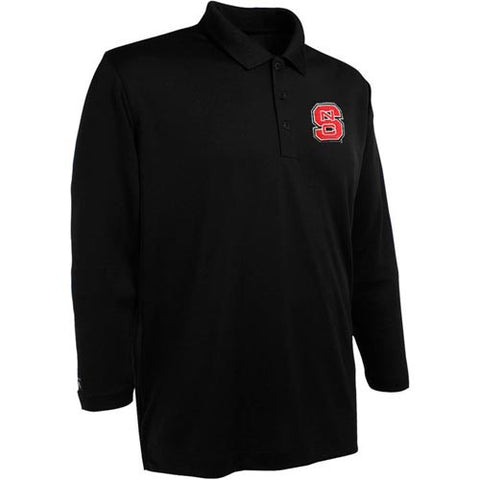 NC State Wolfpack Black Long Sleeve Exceed Performance Polo